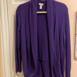 Chico's purple cardigan